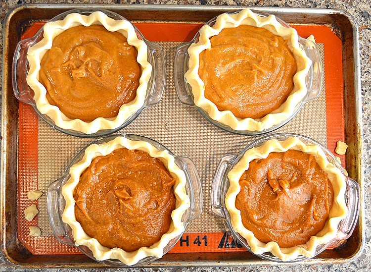 Pumpkin Filling Prior to Baking