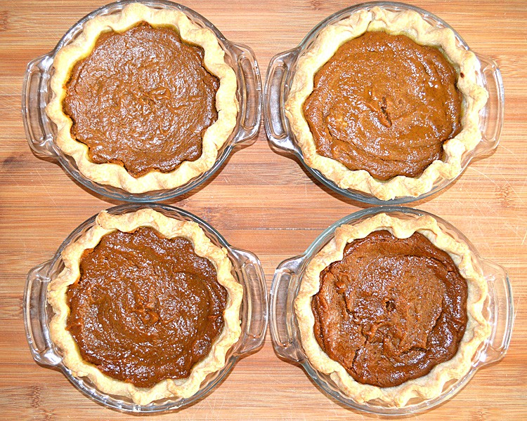 Pumpkin Pies After Baking