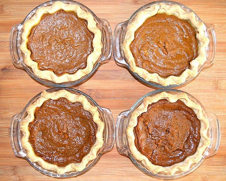 Pumpkin Pies After Baking