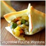 Baked Vegetable Pot Pie Wontons {Vegan}