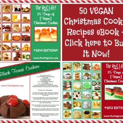 *2014 Edition* 25 Days of Vegan Christmas Cookies eBook now available for purchase!