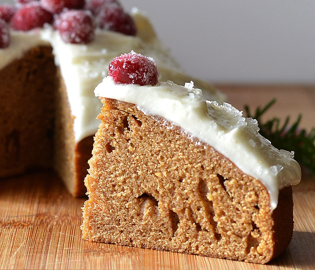 Old Fashioned Gingerbread with Cream Cheese Frosting {Vegan ...