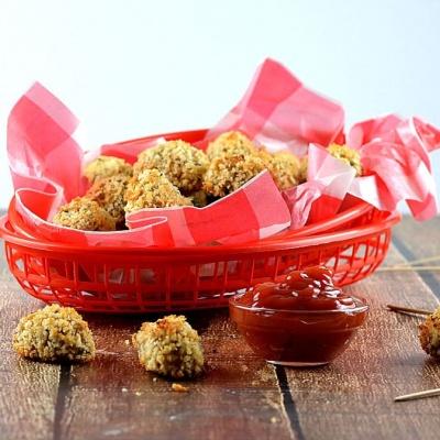 Baked Cauliflower Tots {Vegan}