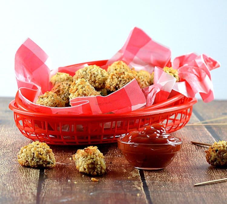 Baked Cauliflower Tots