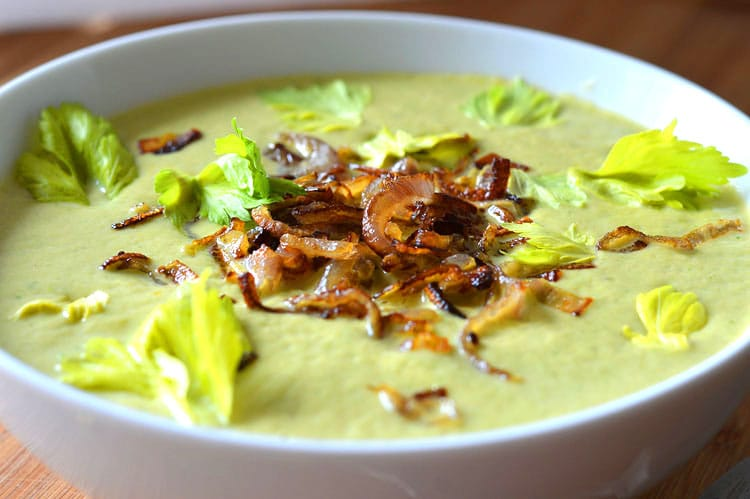 Healthy Vegan Cream of Celery Soup