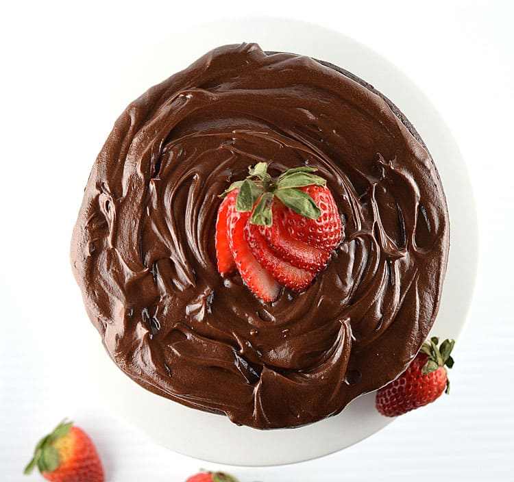 Chocolate Cake with Chocolate Buttercream Frosting