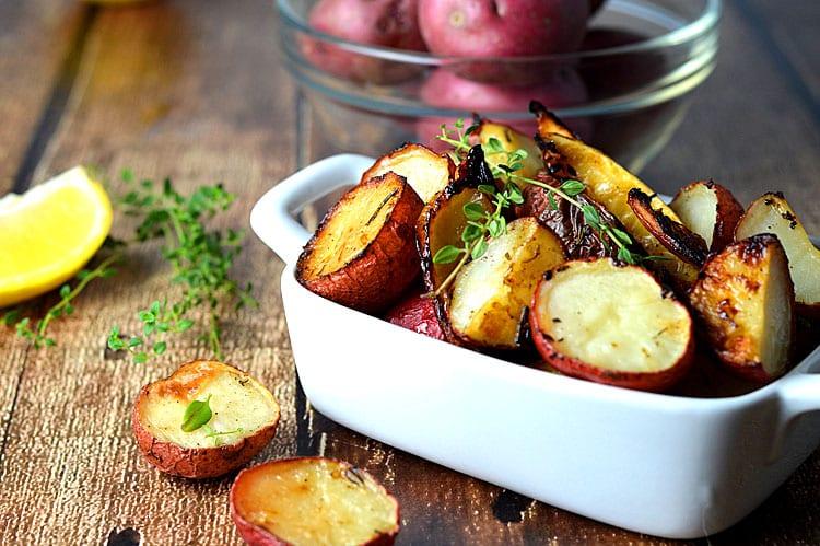 Roasted Potatoes with Lemon, Rosemary & Thyme