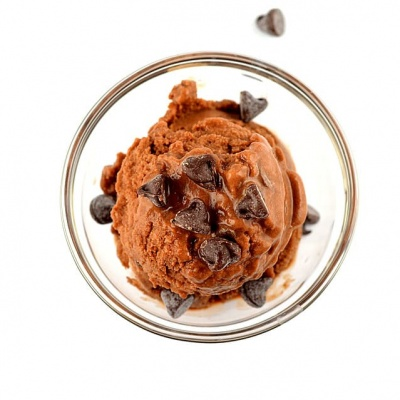 Chocolate Chocolate Chip Frozen Dessert {Vegan}