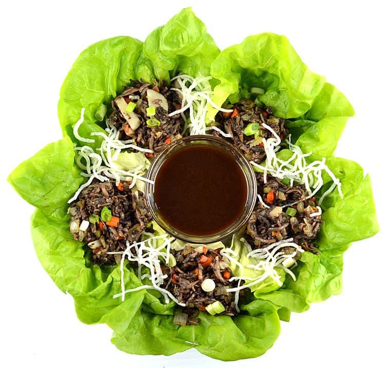Spicy Mushroom Lettuce Wraps