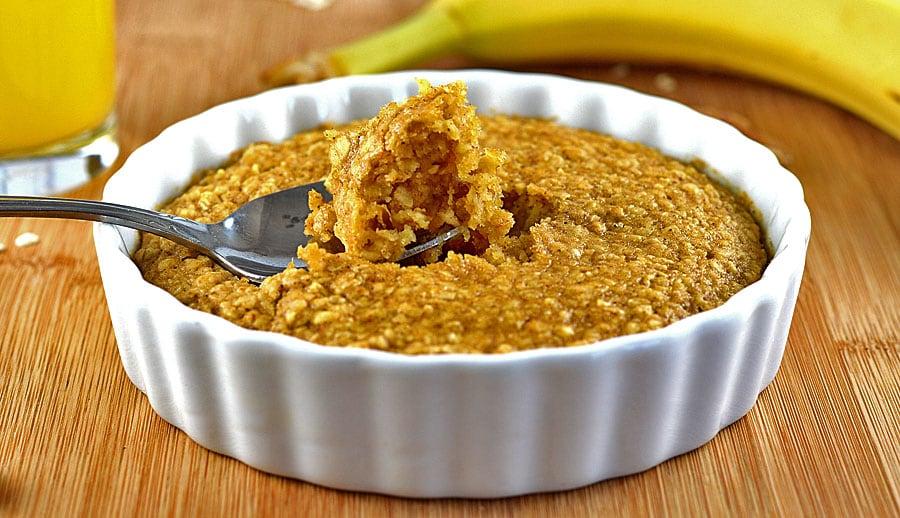 Easy Baked Pumpkin Spice Oatmeal
