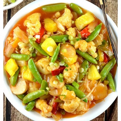 Sweet and Sour Vegetables {Vegan}