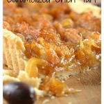 Caramelized Onion Tart {Vegan}