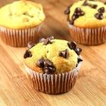 High Protein Banana Chocolate Chip Muffins
