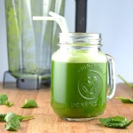 Healthy Vegan Green Juice in a Blender