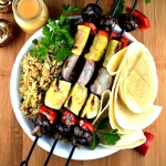 Grilled Vegetable Skewers with Vegan Beurre Blanc Sauce