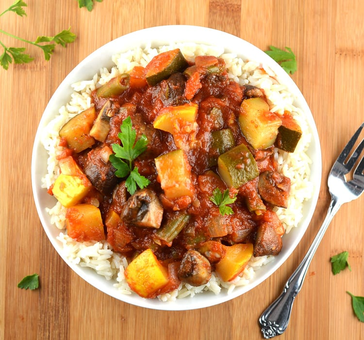 Vegetable Stew over Rice