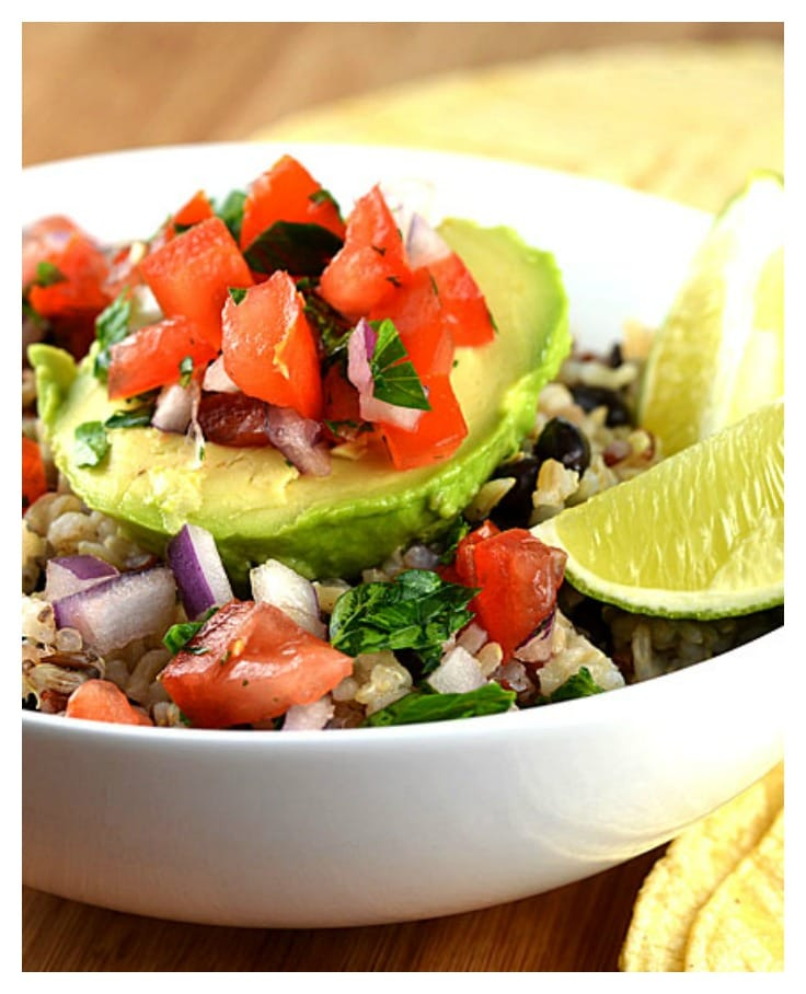Avocado Rice Bowls with Black Beans & Tomato Salsa {Vegan ...