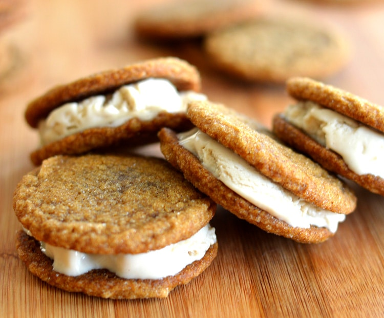 Ginger Cookie Ice Cream Sandwiches