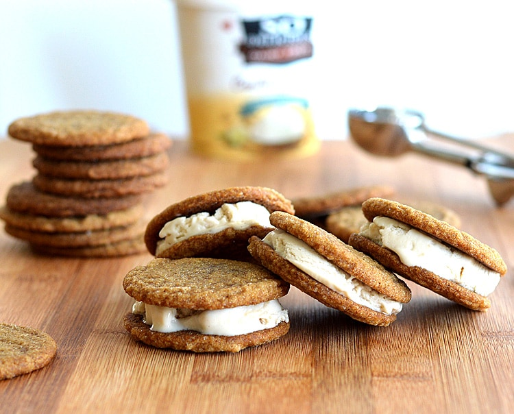 Ginger Cookie Ice Cream Sandwiches