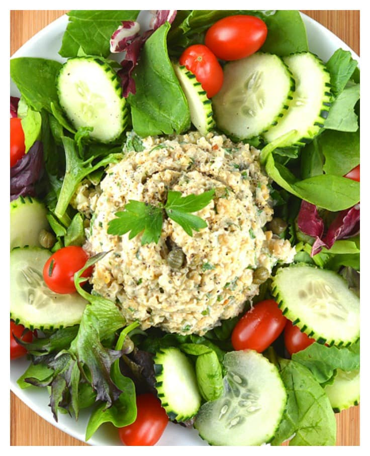 Chickpea Salad {Vegan} - TheVegLife