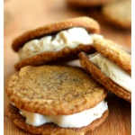 Ginger Cookie Ice Cream Sandwiches {Vegan}