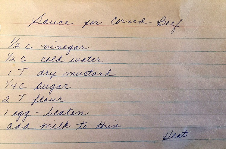 Mustard Dipping Sauce Original Recipe Card