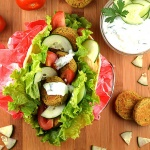 Baked Falafel with Homemade Tzatziki