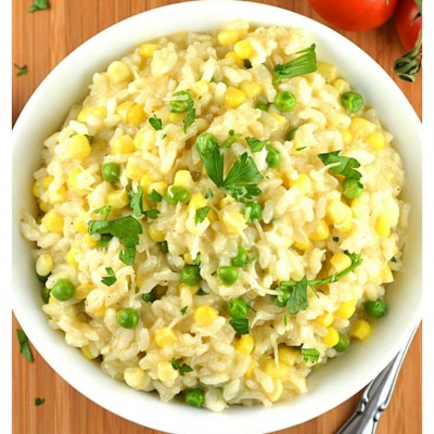 Sweet Corn Risotto {Vegan}