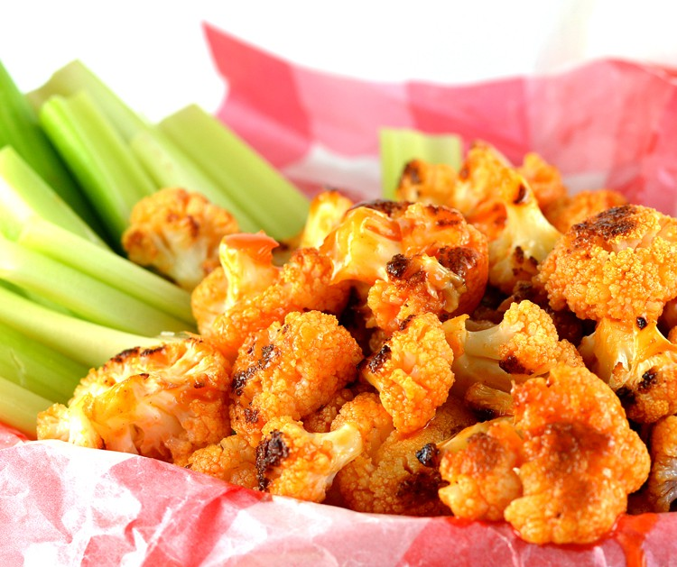 Grill Roasted Buffalo Cauliflower