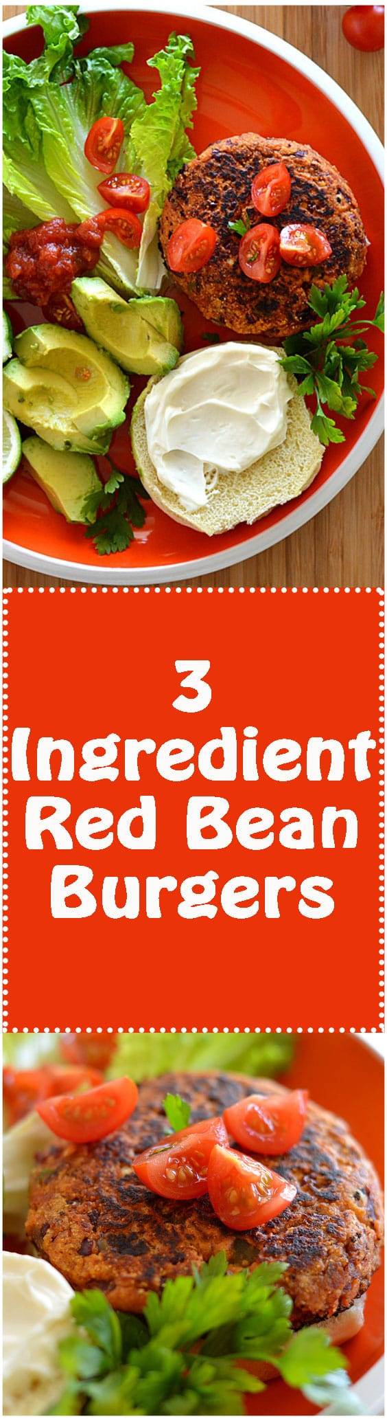 3 Ingredient Red Bean Burger