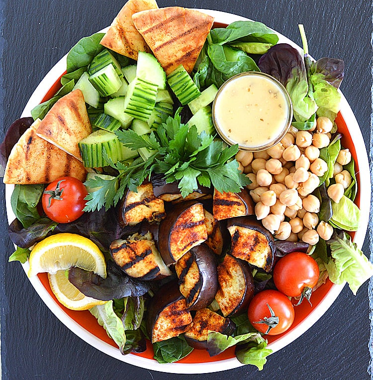 grilled eggplant salad theveglife