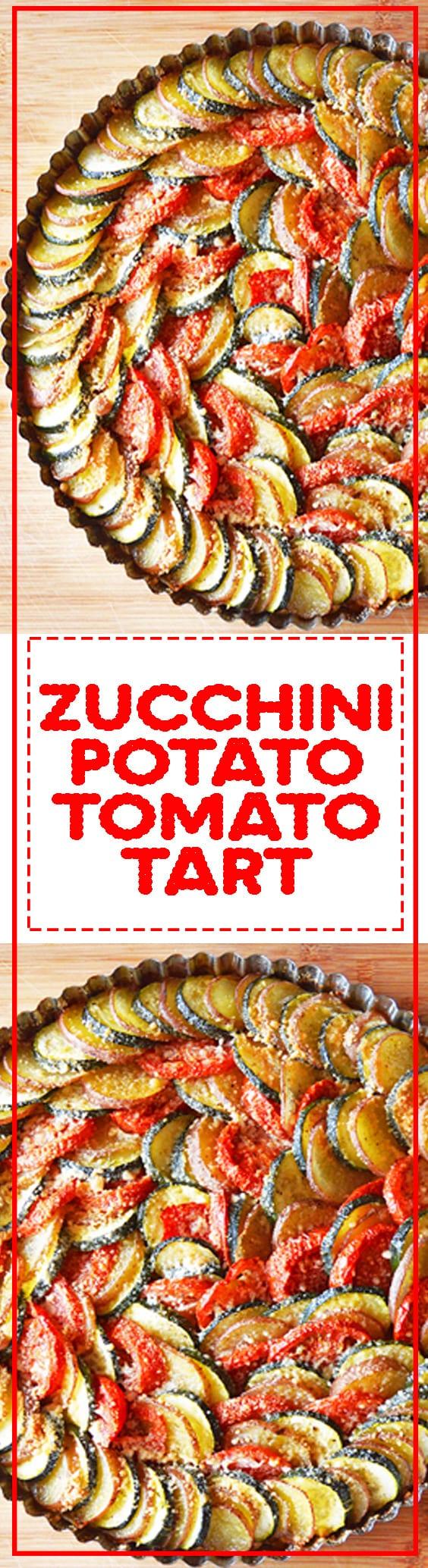 Zucchini Potato Tomato Tart