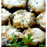 French Onion Soup Stuffed Mushrooms | Vegetarian/Vegan