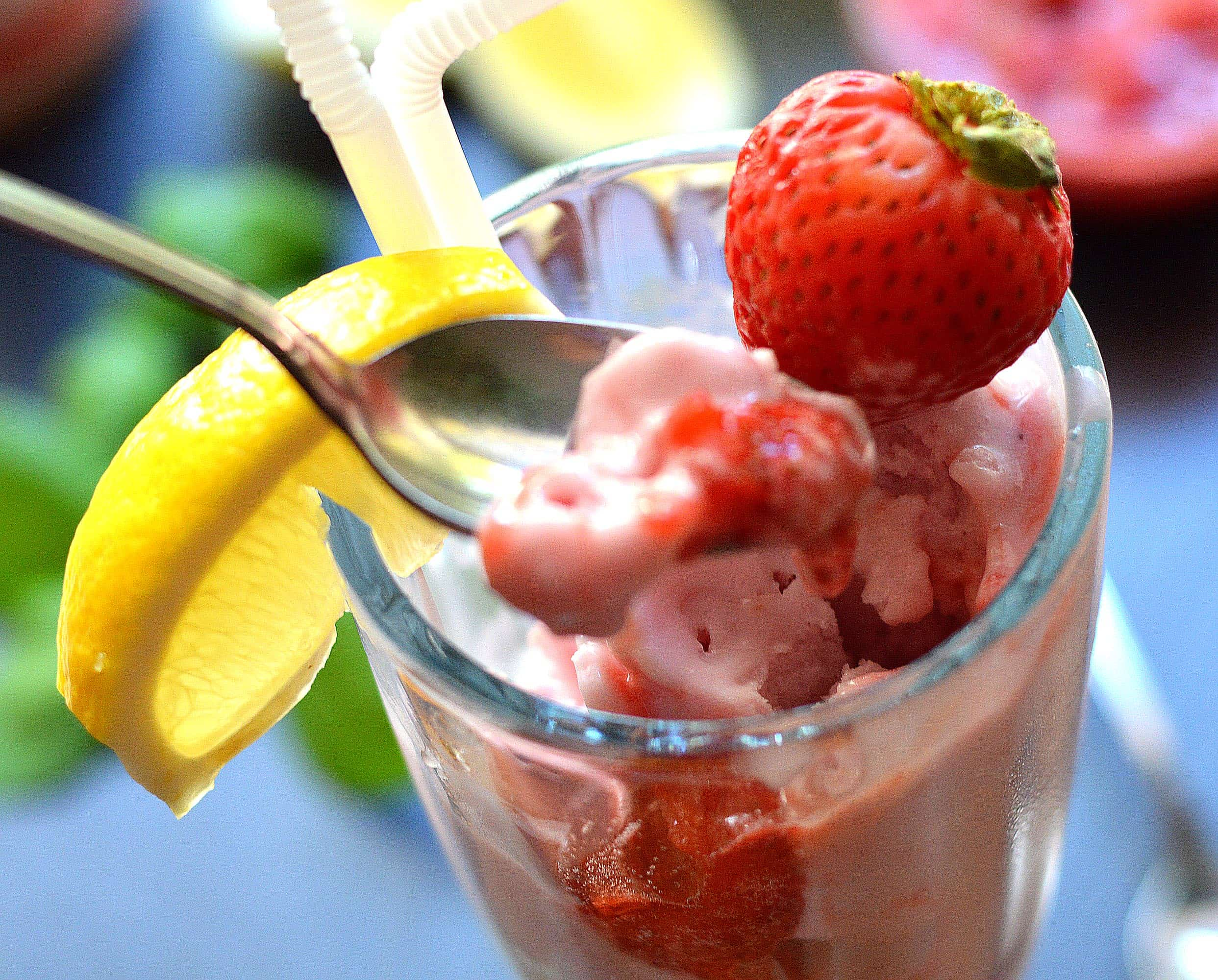 SO Delicious Dairy Free Strawberry Lemonade Float