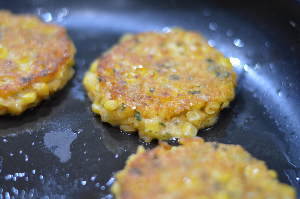 Pan fried Vegan Corn Fritters