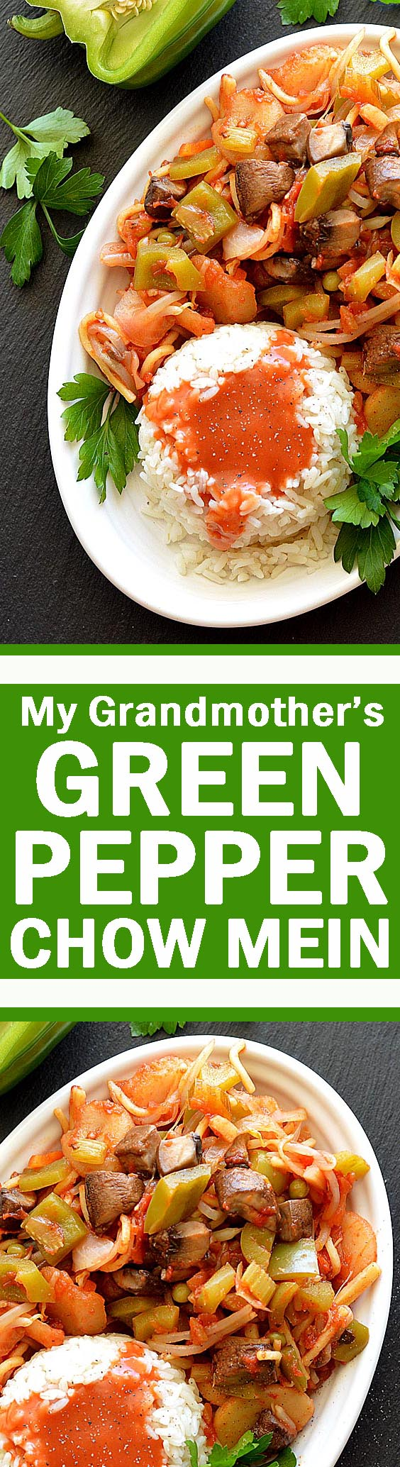 My Grandmother's Green Pepper Chow Mein