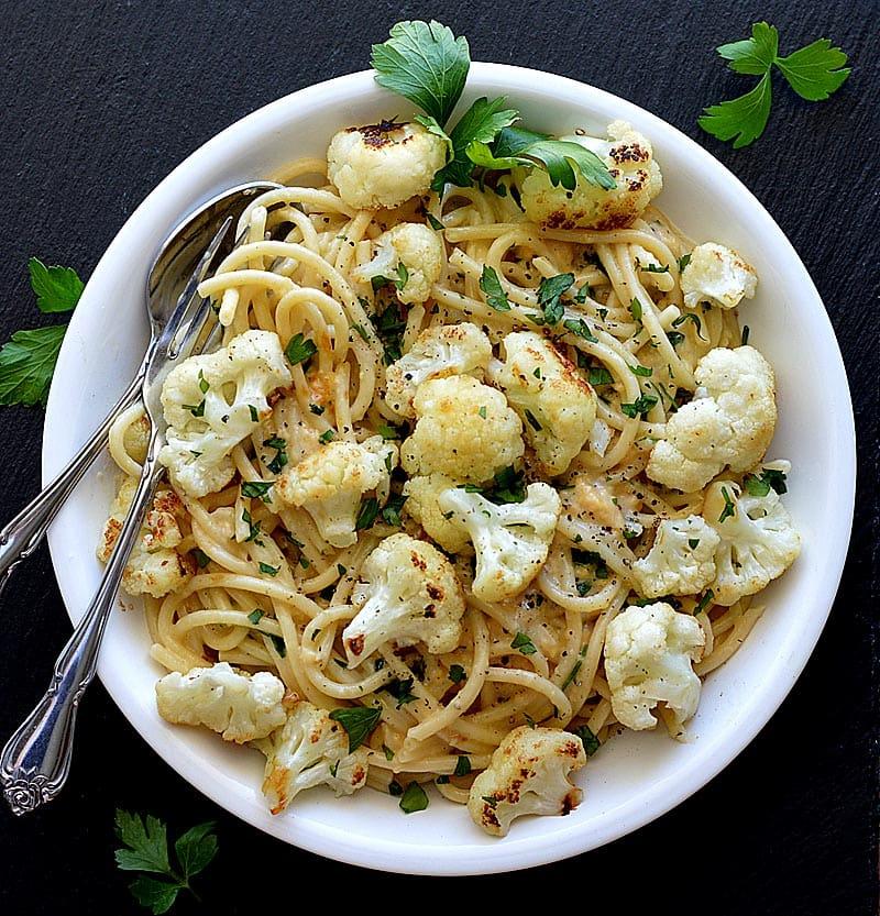 Bucatini with Roasted Cauliflower