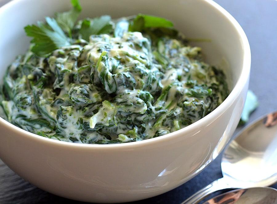 Vegan Creamed Spinach