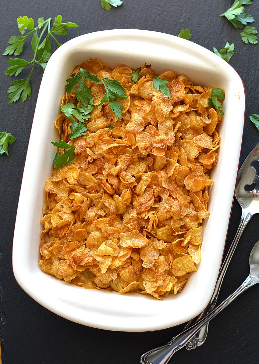 Vegan Cheesy Potato Casserole