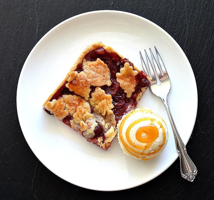 VEGAN Apple Cranberry Slab Pie