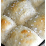 One Hour Soft Dinner Rolls with Sea Salt