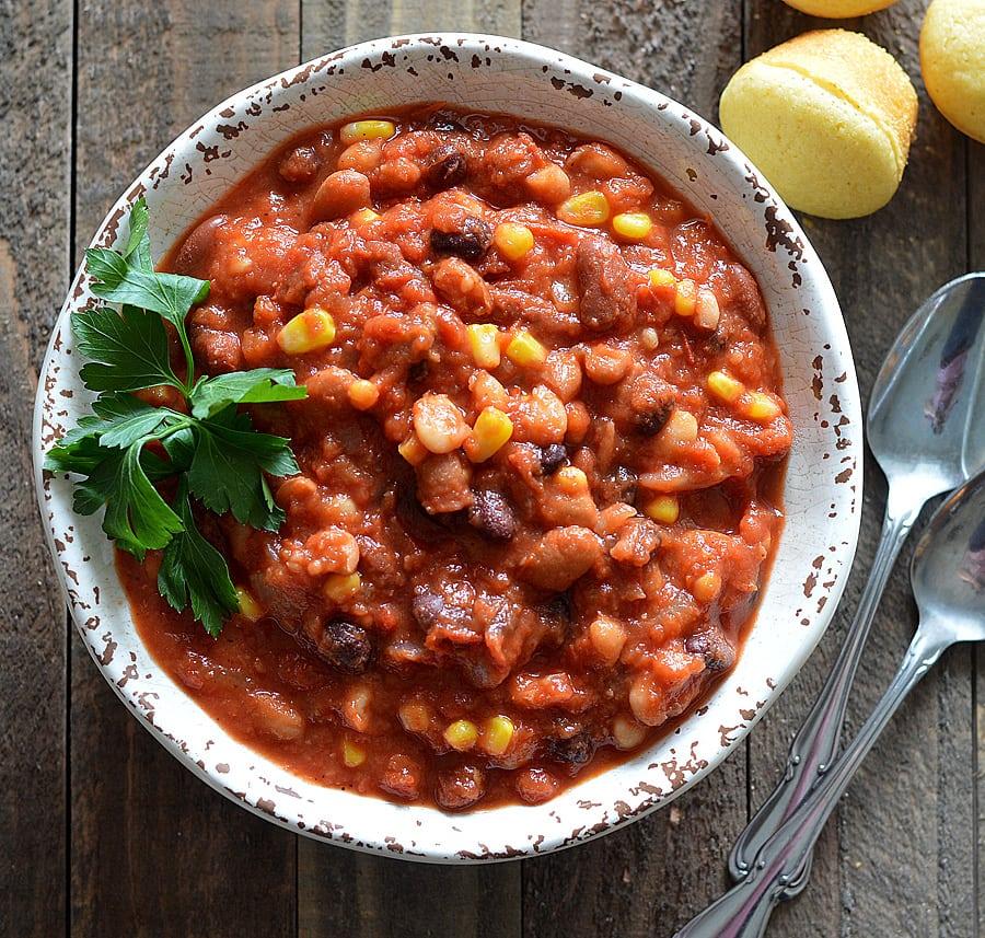 Vegan 3 Bean Chili Theveglife