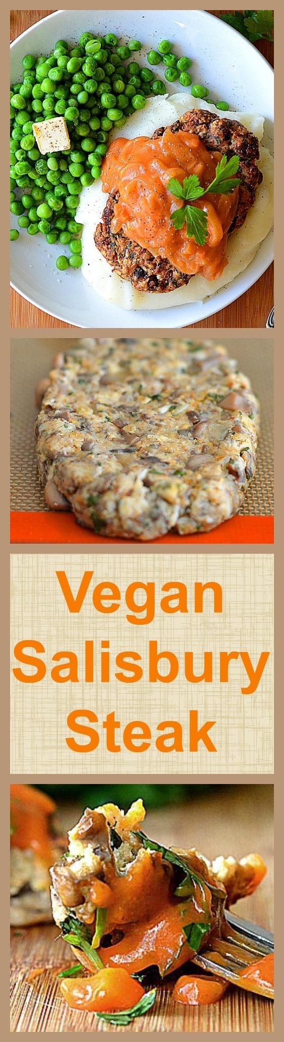 Vegan Salisbury Steak with Tomato Gravy