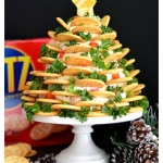 Holiday RITZ Crackers Veggie Cream Cheese Appetizer Tree