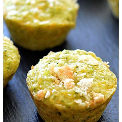 4 Ingredient Broccoli Cheddar Bites {Vegetarian}