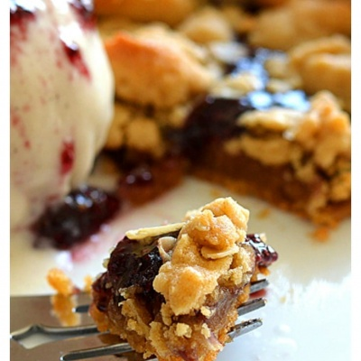 Peanut Butter and Chia Jelly Slab Pie