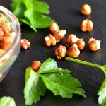 Bee-Free Roasted Honey Mustard Chickpeas