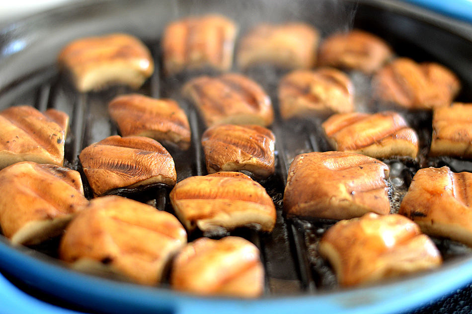 Barbecue Portobello Steak and Potato Bites