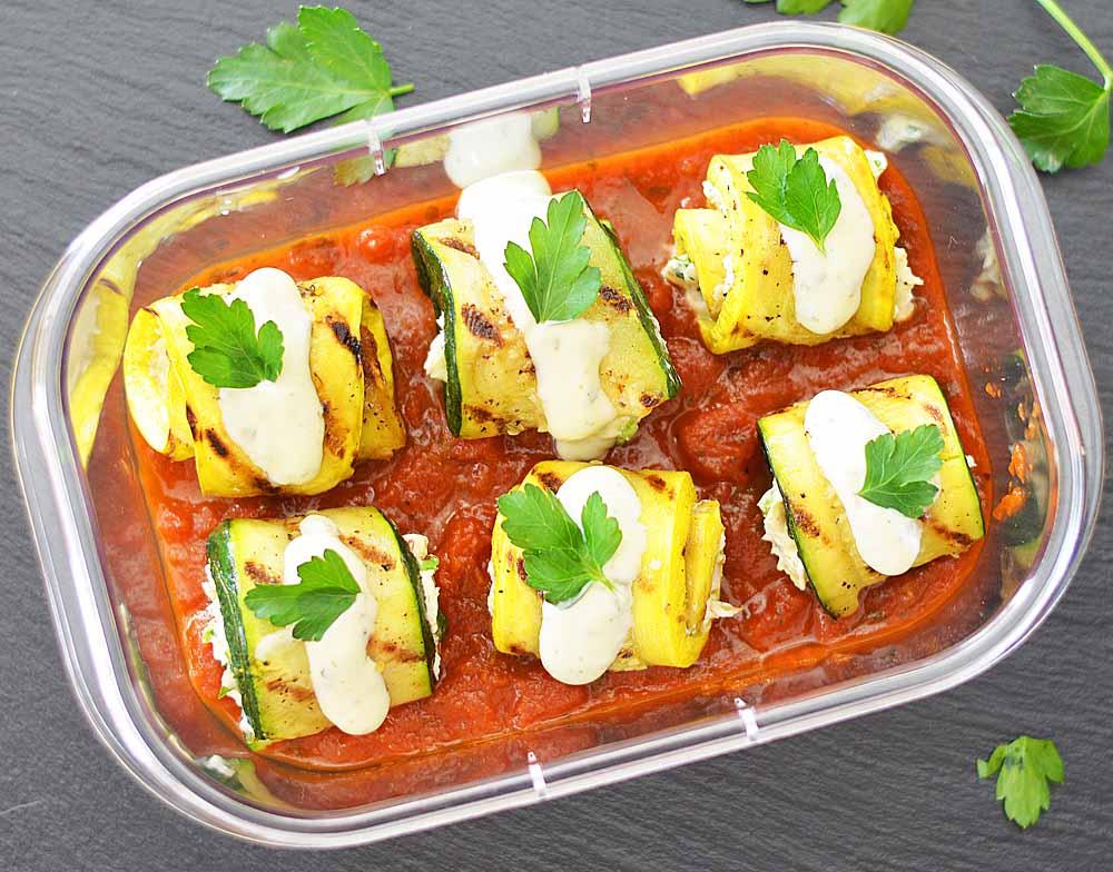 Zucchini Veggie Cream Cheese Roll Ups {Vegetarian}