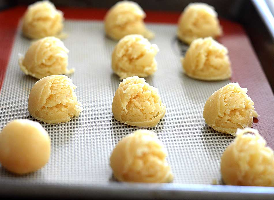 Vegan White Chocolate Covered Sugar Cookie Truffles